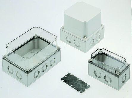 Fibox Grey Polycarbonate Enclosure, IP66, IP67, 130 x 80 x 100mm