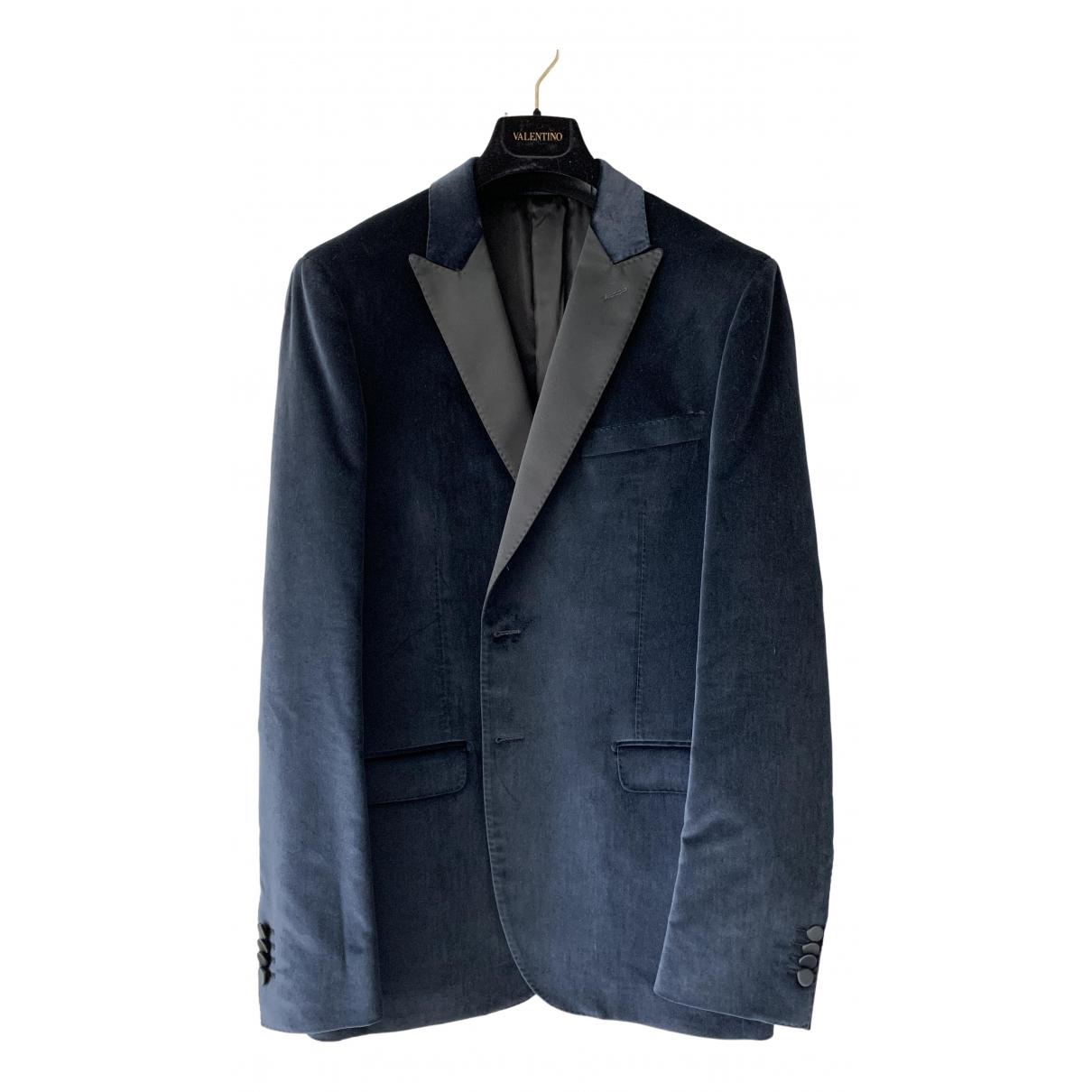 Valentino Garavani \N Navy Cotton jacket  for Men 52 IT