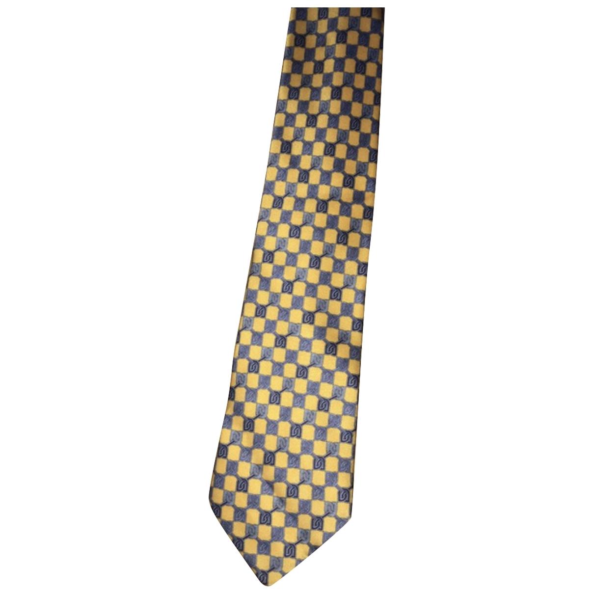 Balenciaga \N Krawatten in  Gelb Seide