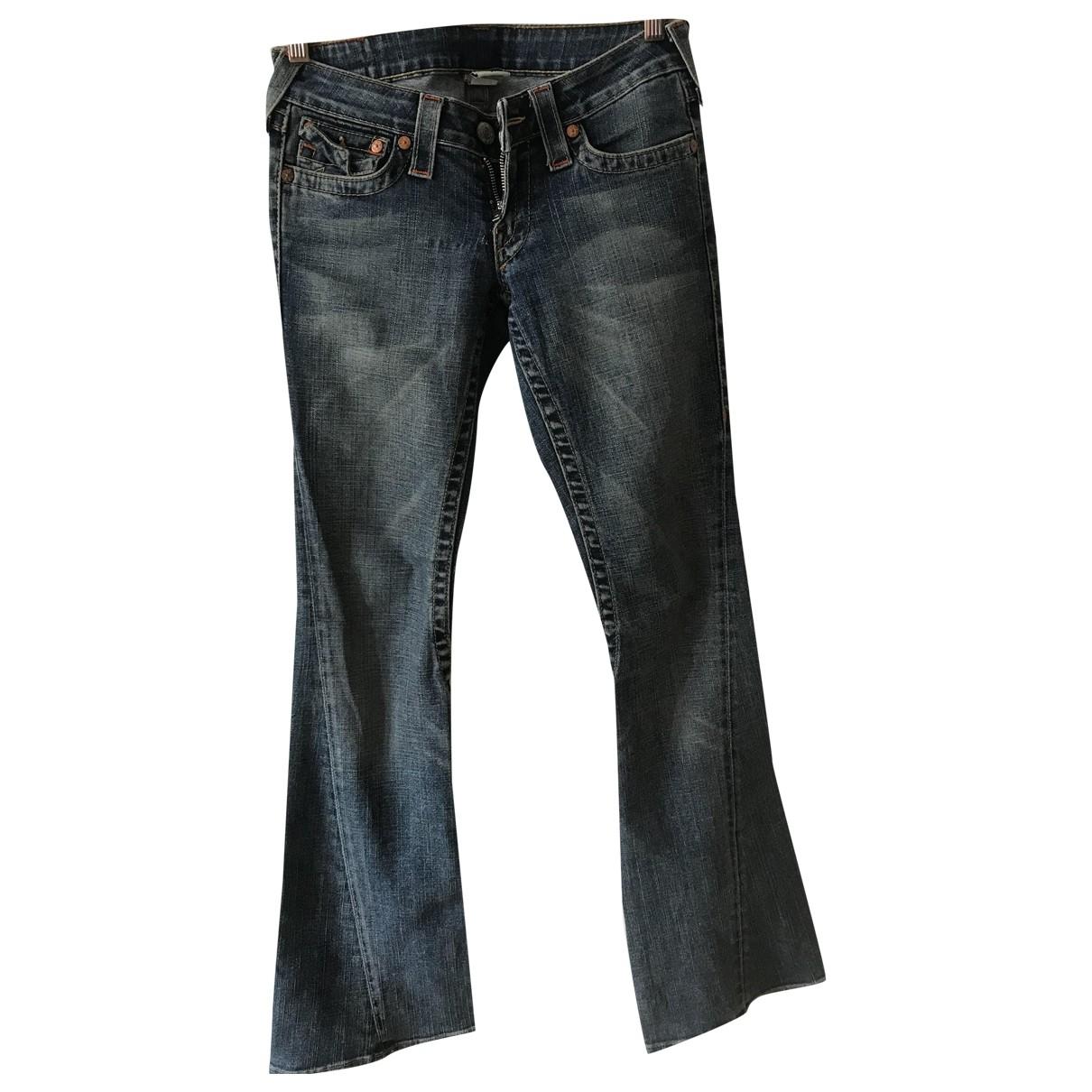 True Religion \N Blue Denim - Jeans Jeans for Women 27 US