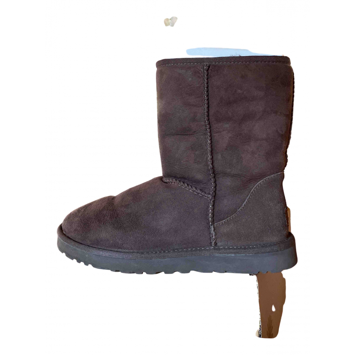 Ugg N Brown Fur Ankle boots for Women 38 IT