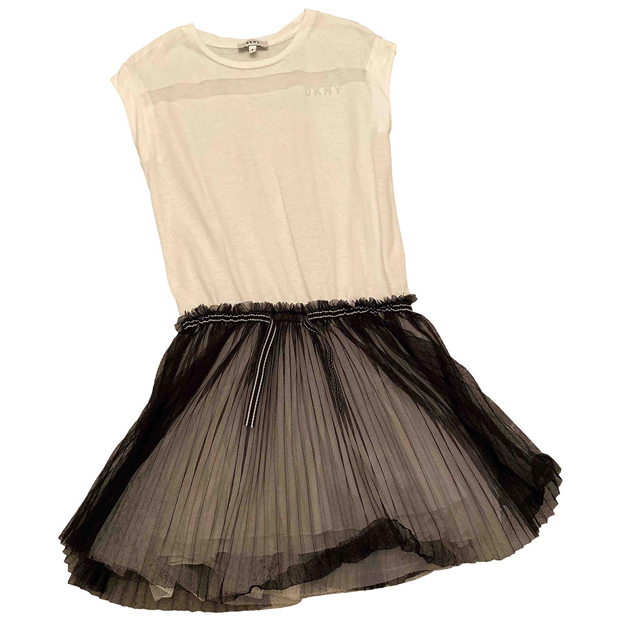 Dkny - Robe    pour enfant en coton - blanc