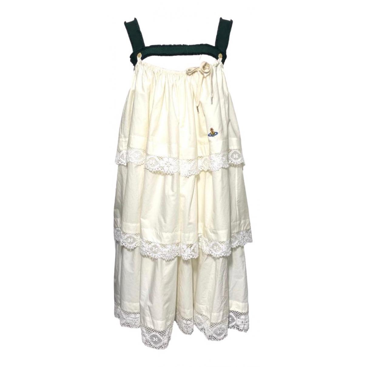 Vivienne Westwood \N Kleid in  Ecru Baumwolle