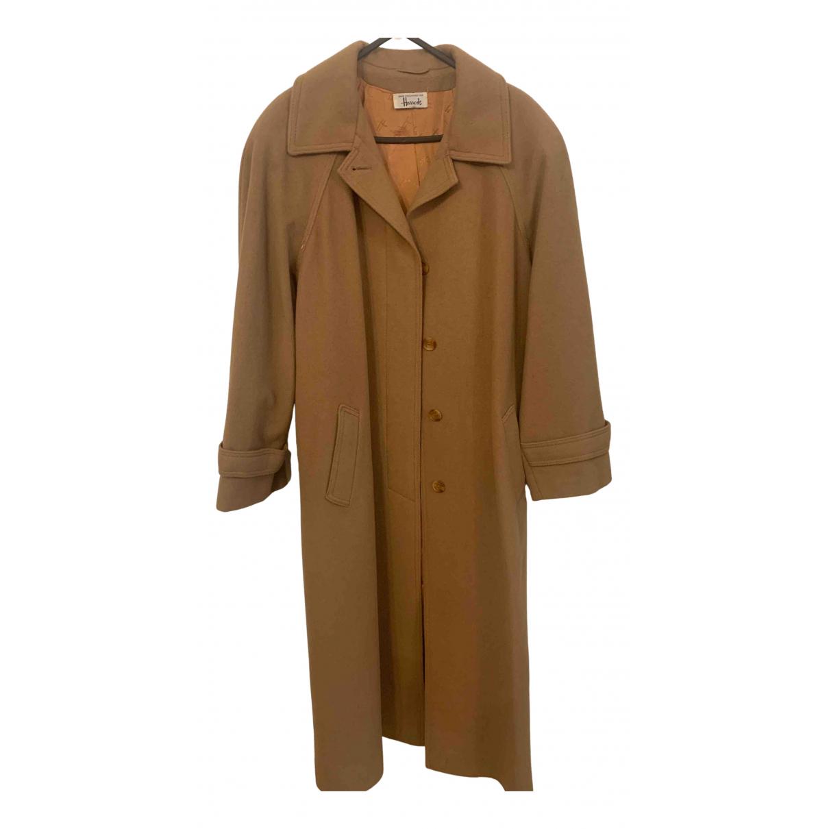 Harrods - Manteau   pour femme en cachemire - camel