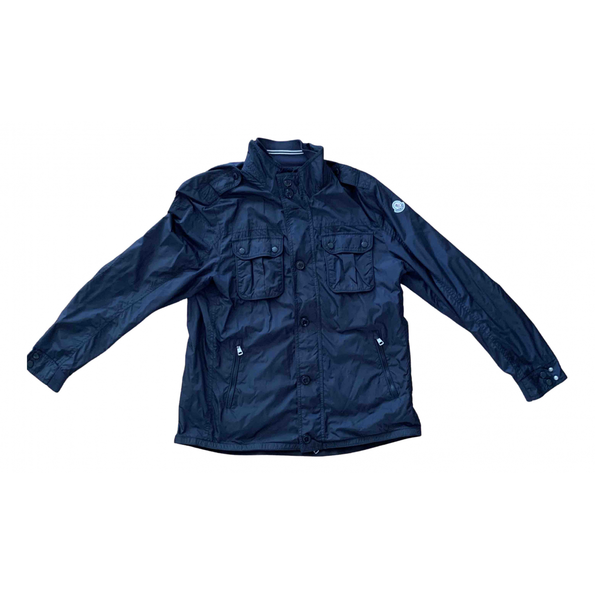 Moncler Classic Jacke in  Blau Polyester