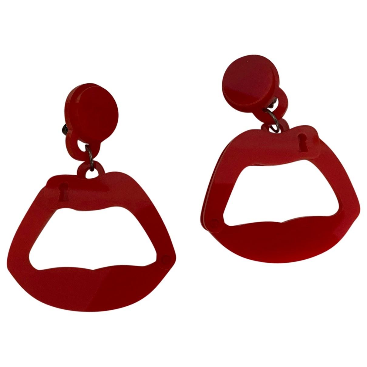 Yazbukey \N OhrRing in  Rot Kunststoff