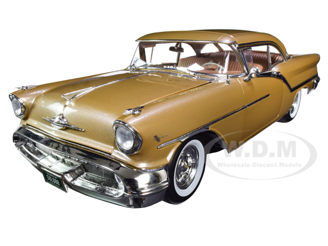 1957 Oldsmobile Super 88 Gold Mist with Tan Interior Limited Edition to 912 pieces Worldwide 1/18 Diecast Model Car by ACME