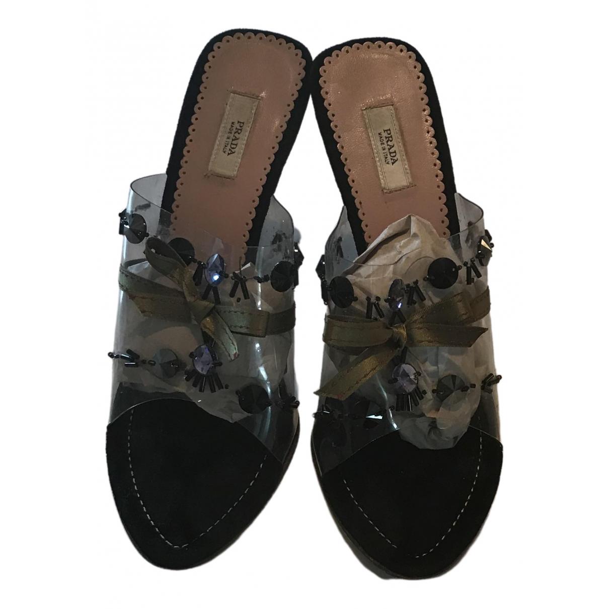 Prada \N Sandalen in  Schwarz Kunststoff