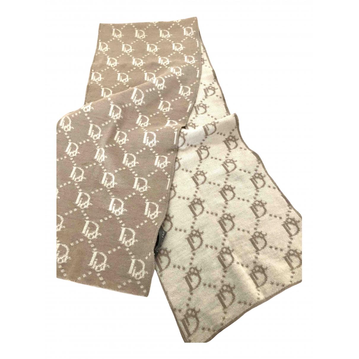 Dior \N Schal in  Beige Wolle