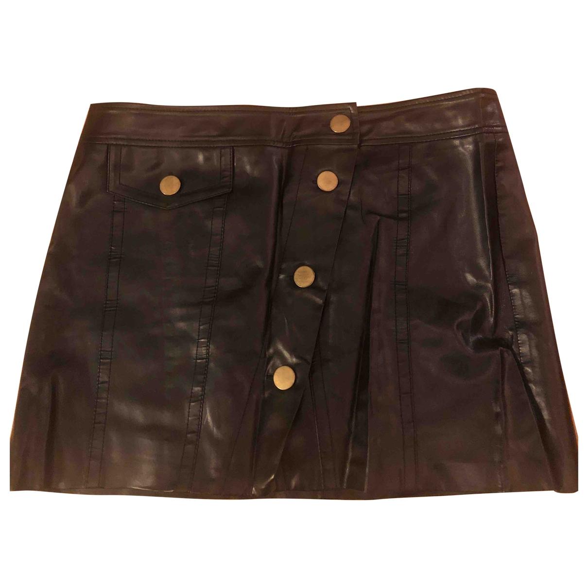 Ann-sofie Back - Jupe   pour femme en cuir verni - noir