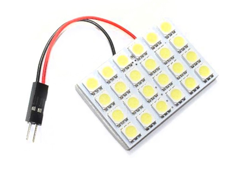 Race Sport Lighting RS-5050-24DOME-R Red 24 Chip 5050 LED Dome Panel  Individual