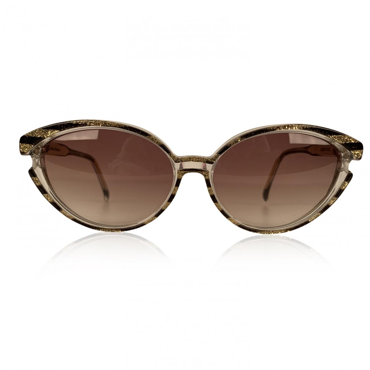 Yves Saint Laurent \N Sonnenbrillen in  Gold Kunststoff