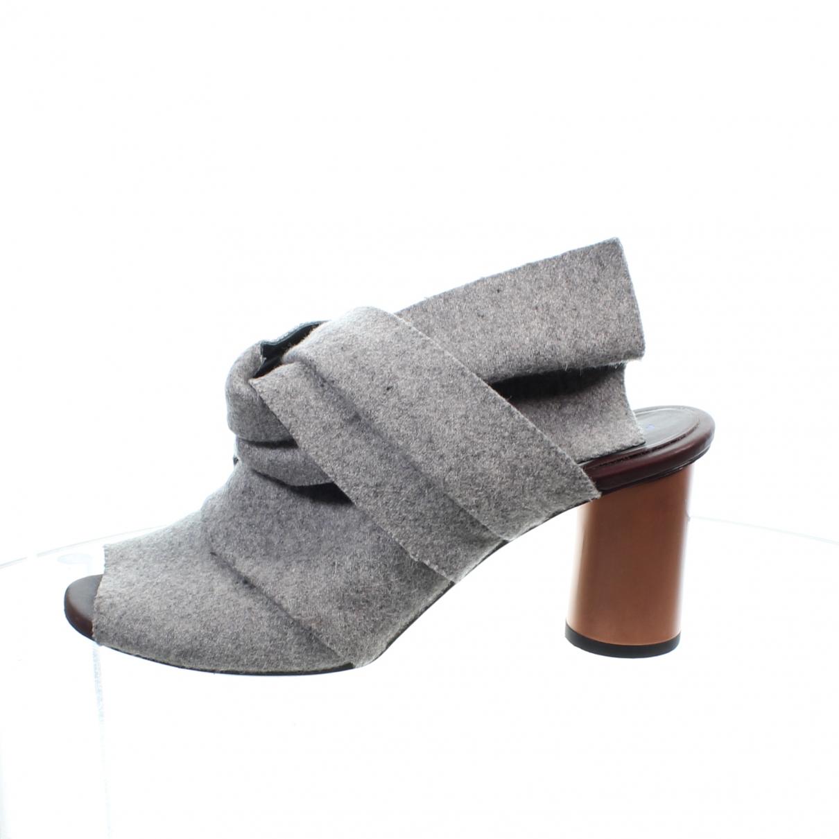 Proenza Schouler \N Clogs in  Grau Leder