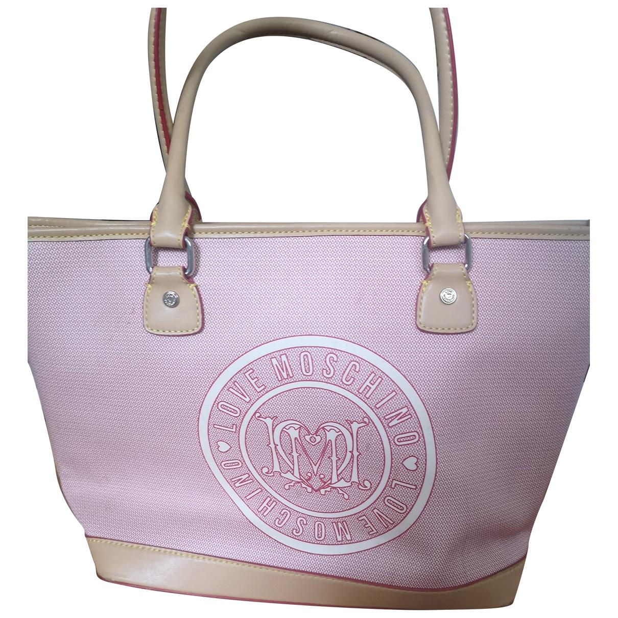 Moschino Love \N Handtasche in  Beige Leinen