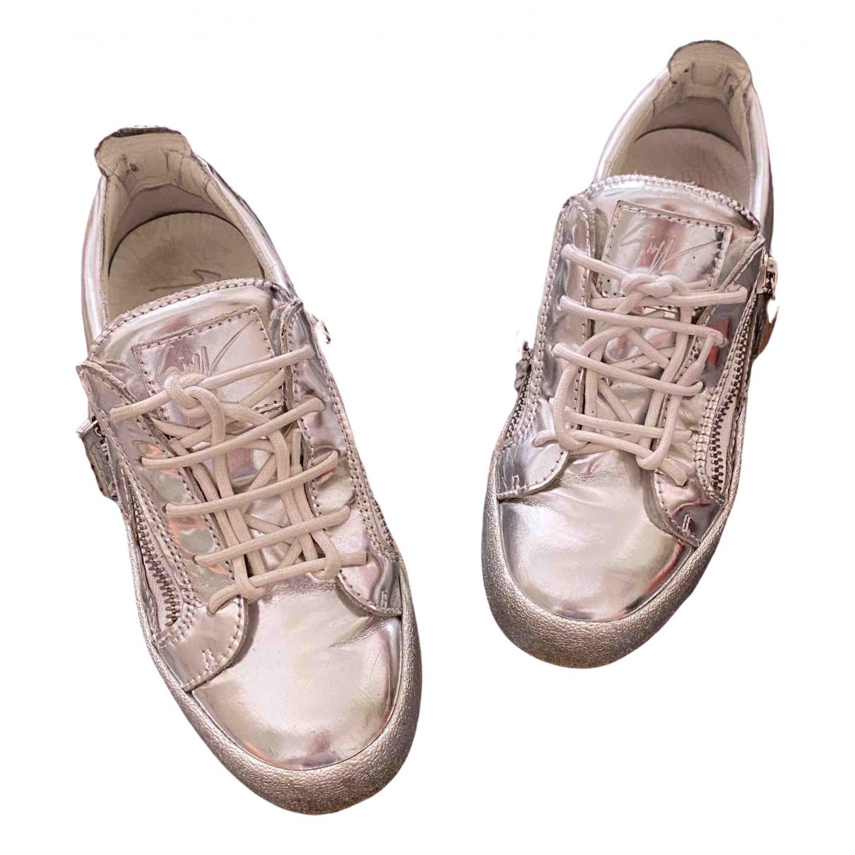 Giuseppe Zanotti \N Sneakers in  Silber Leder