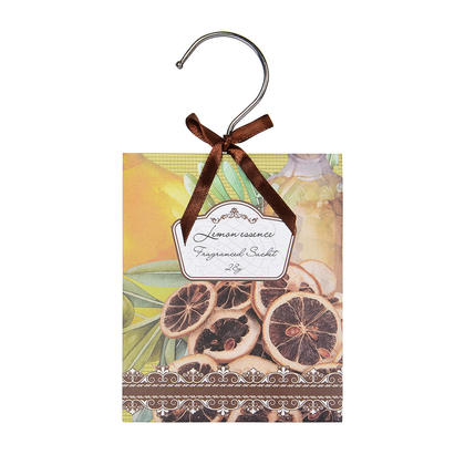 Air Freshener Deodorizer Scented Sachets Bags for Drawers, Closets and Cars, 28g - LIVINGbasics™ - Lemon