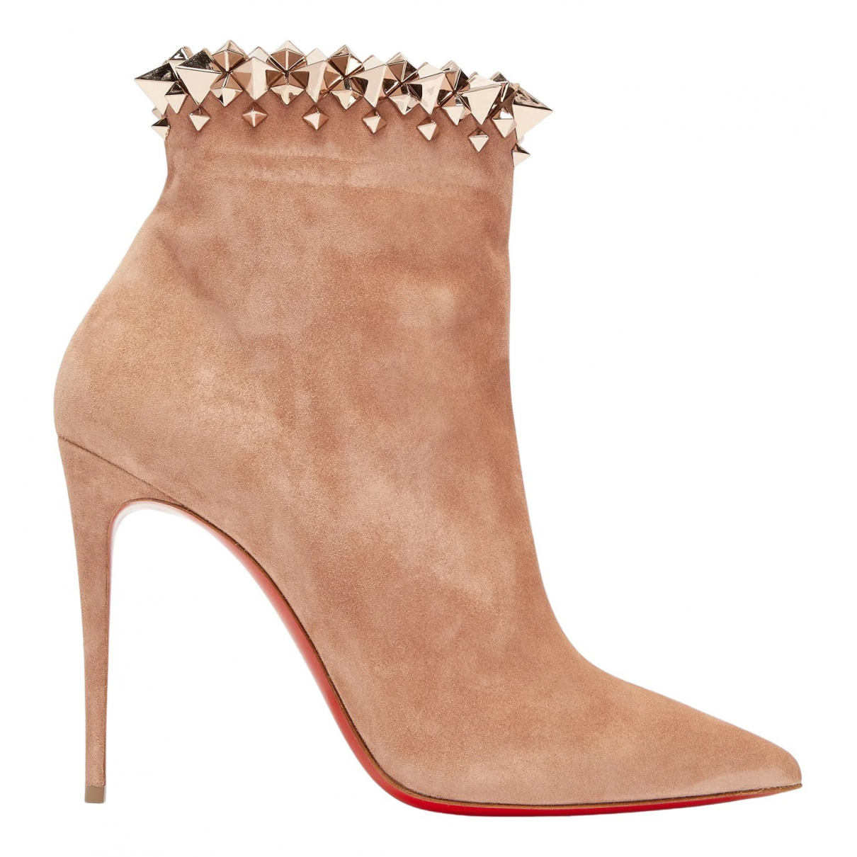 Christian Louboutin \N Beige Suede Ankle boots for Women 35 EU