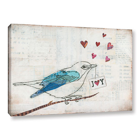 Brushstone Love Birds I Joy Gallery Wrapped CanvasWall Art, One Size , Gray