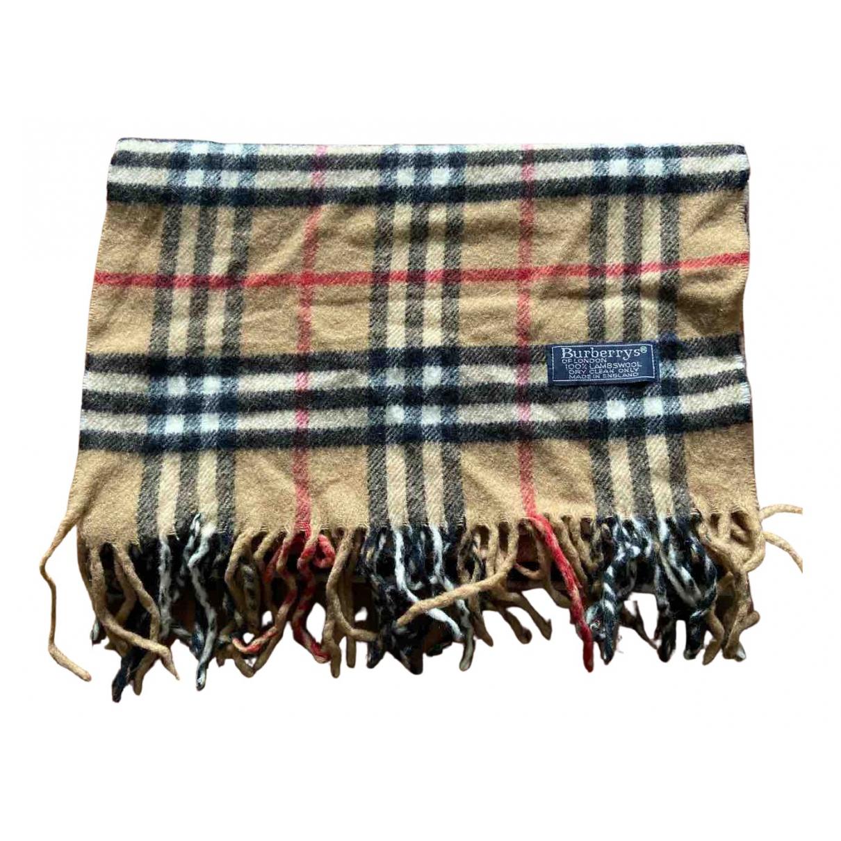Burberry \N Beige Wool scarf for Women \N
