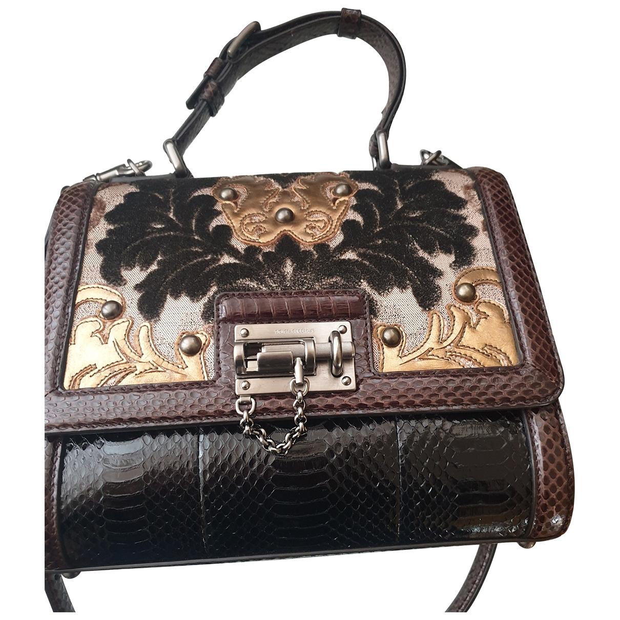 Dolce & Gabbana \N Brown Python handbag for Women \N