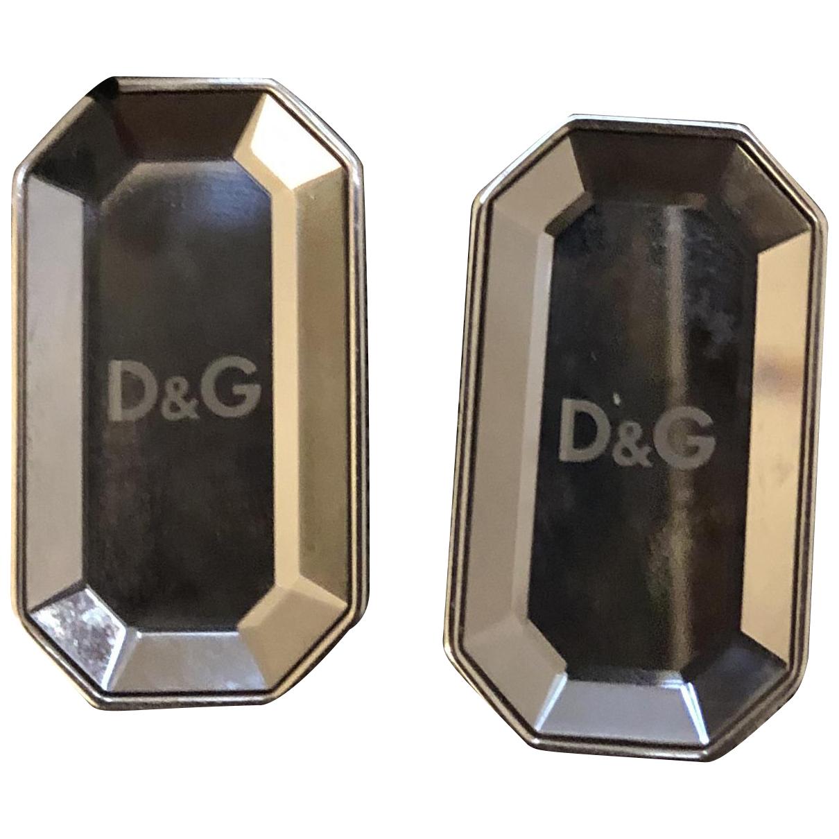 Dolce & Gabbana - Boucles doreilles   pour femme en or et acier - gris