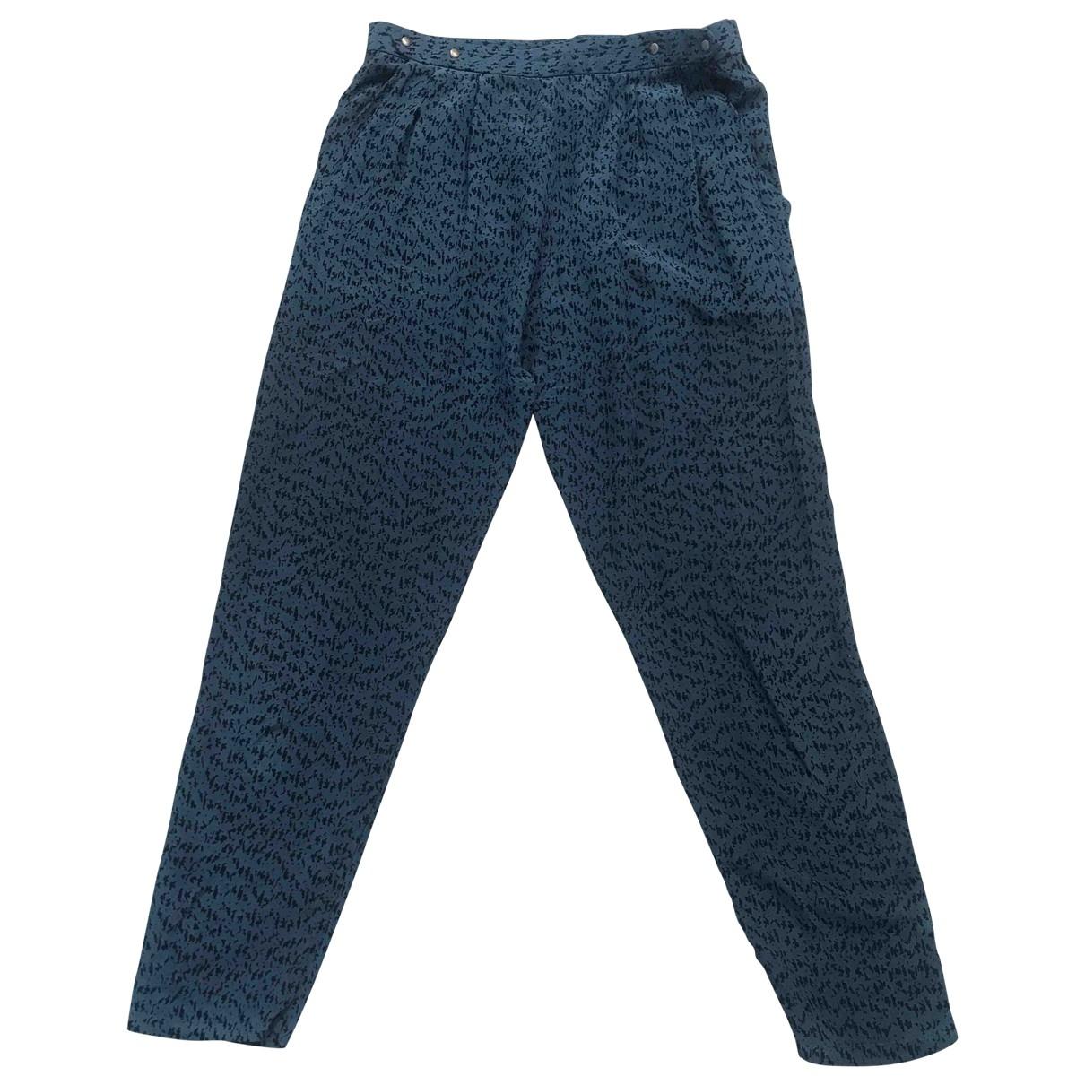 Pyrus \N Blue Silk Trousers for Women S International