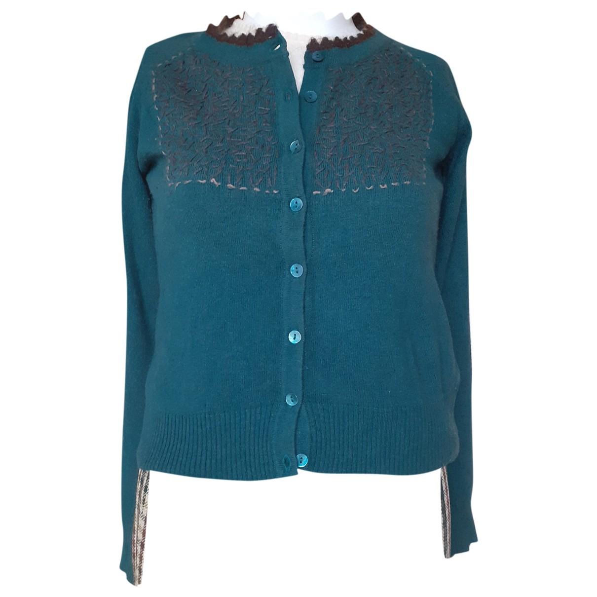 Adolfo Dominguez - Pull   pour femme en laine - vert