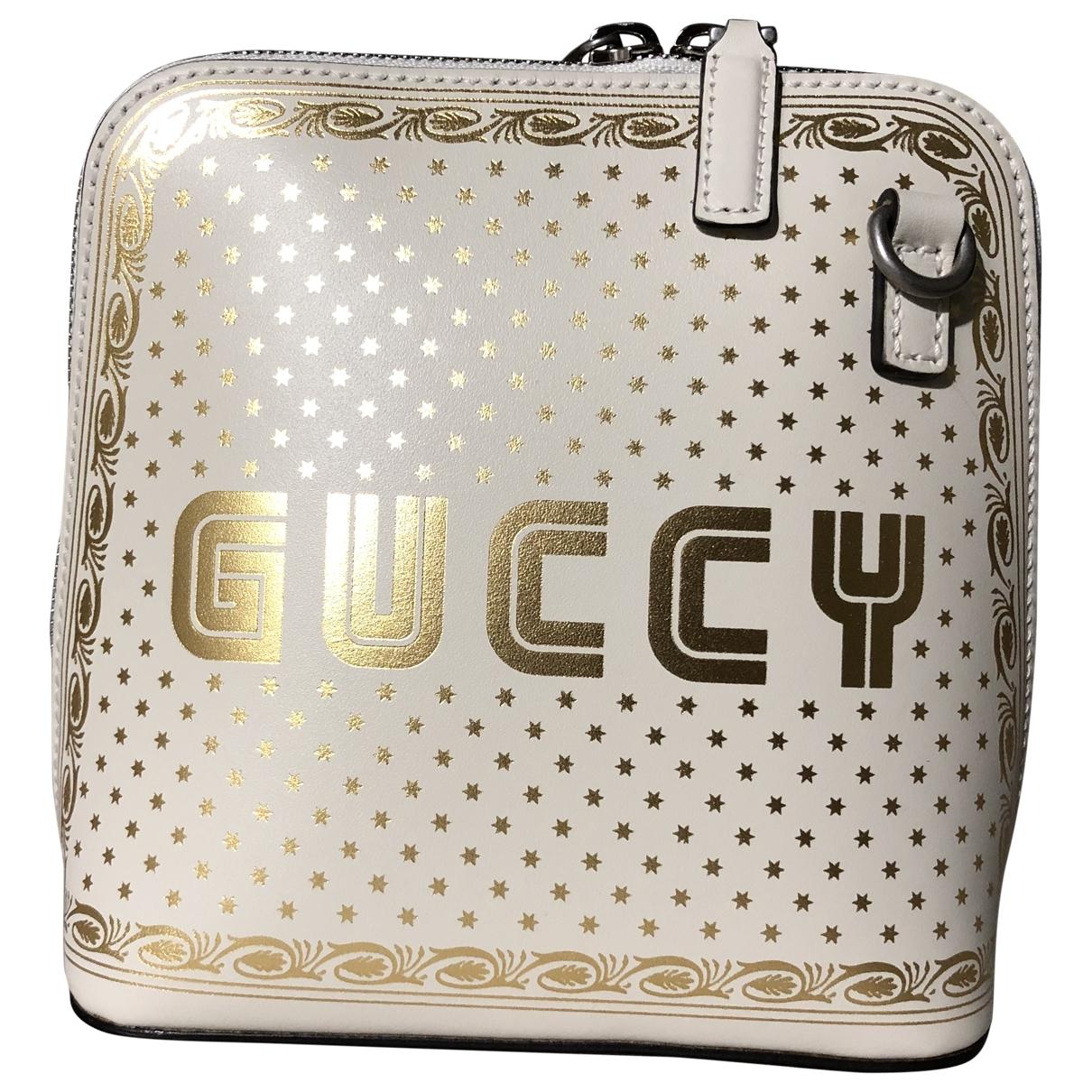 Gucci Guccy minibag Handtasche in  Weiss Leder