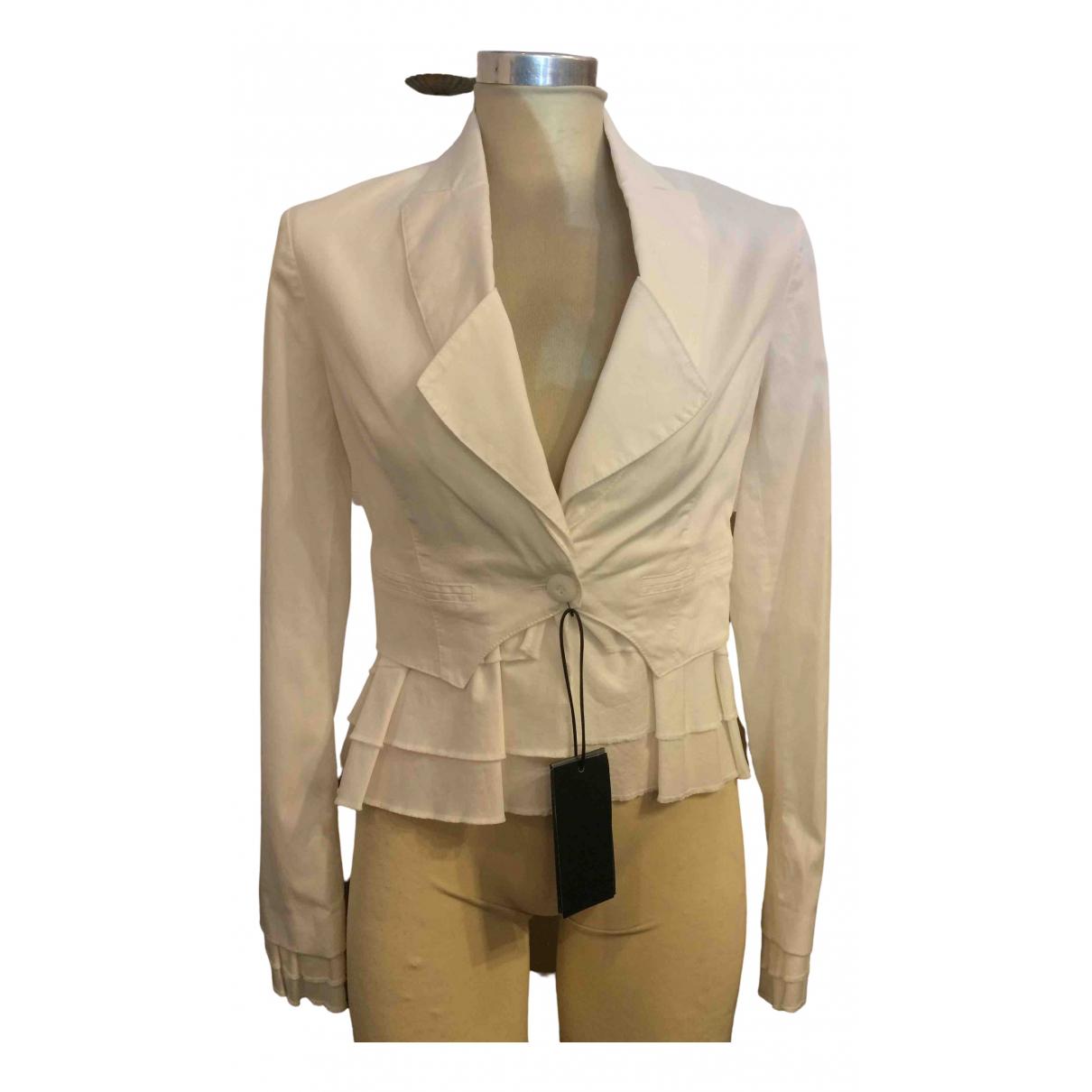 Ermanno Scervino \N White Cotton jacket for Women 40 IT