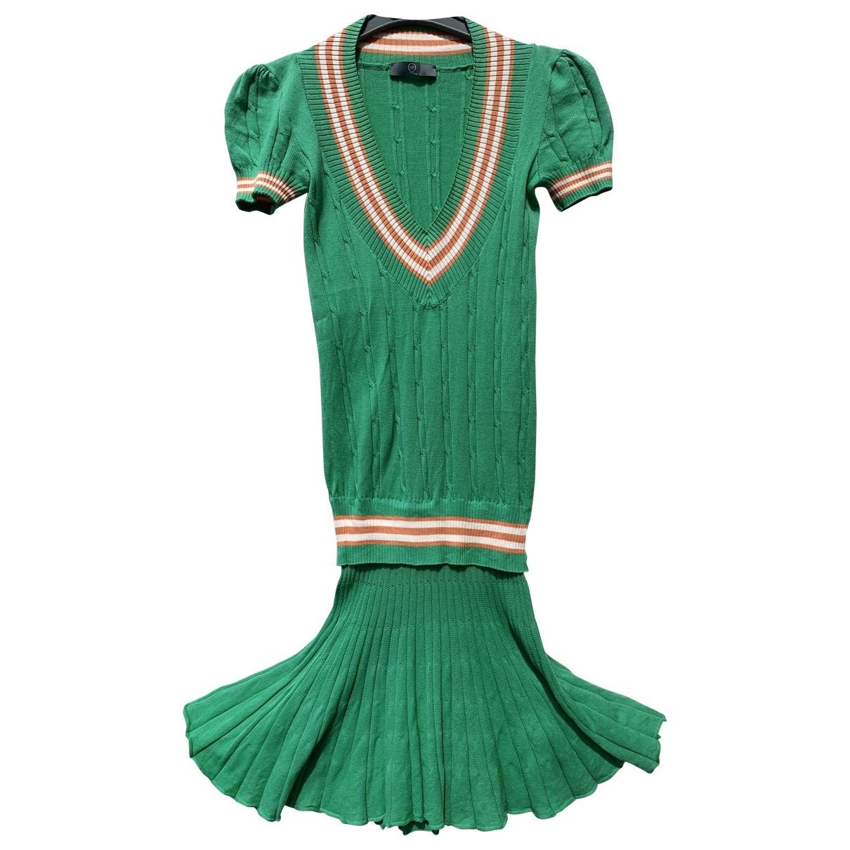 Mcq - Robe   pour femme en coton - elasthane - vert