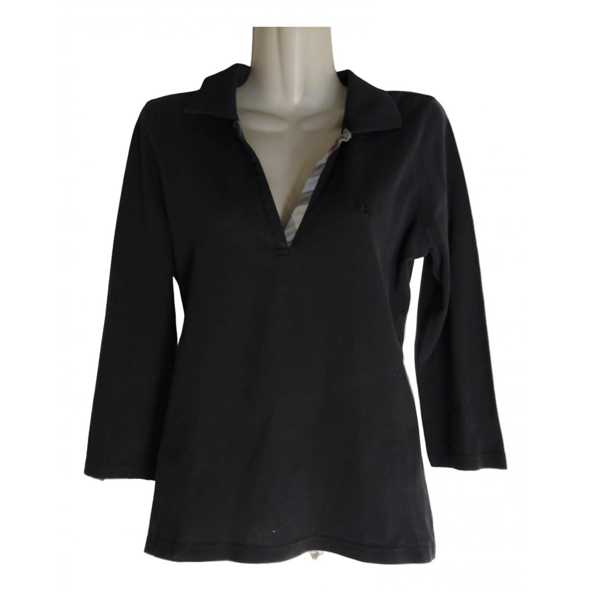 Burberry \N Black Cotton  top for Women M International