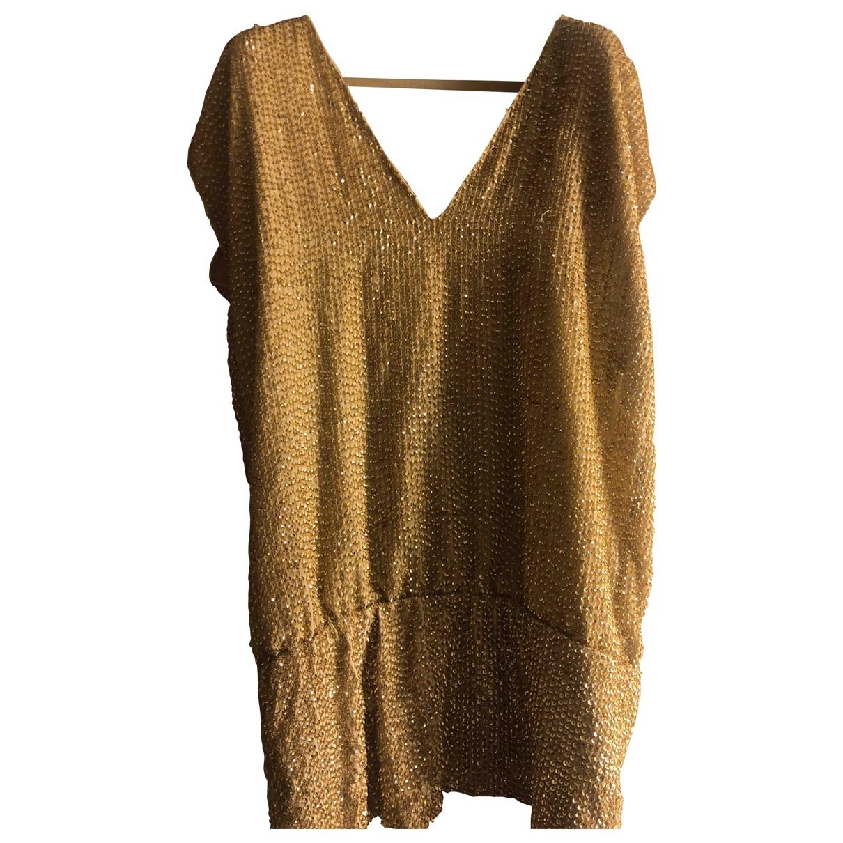 Pinko \N Kleid in  Gold Mit Pailletten
