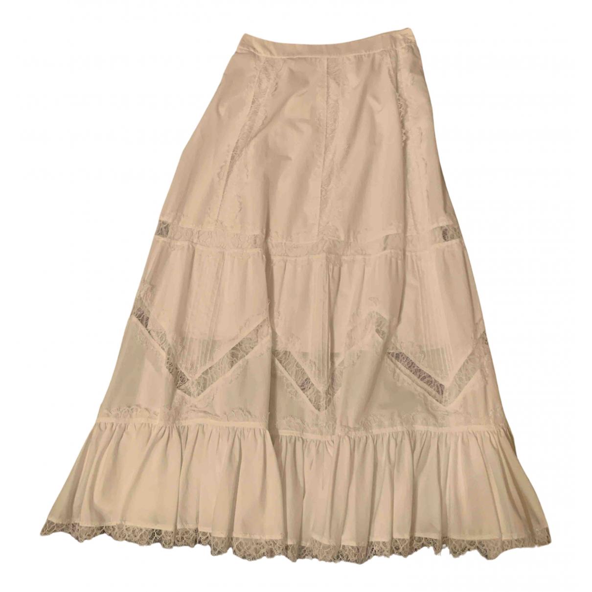 Wandering - Jupe   pour femme en coton - blanc