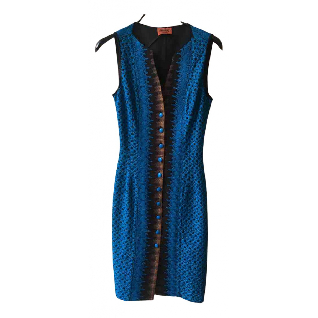 Missoni \N Kleid in  Tuerkis Viskose