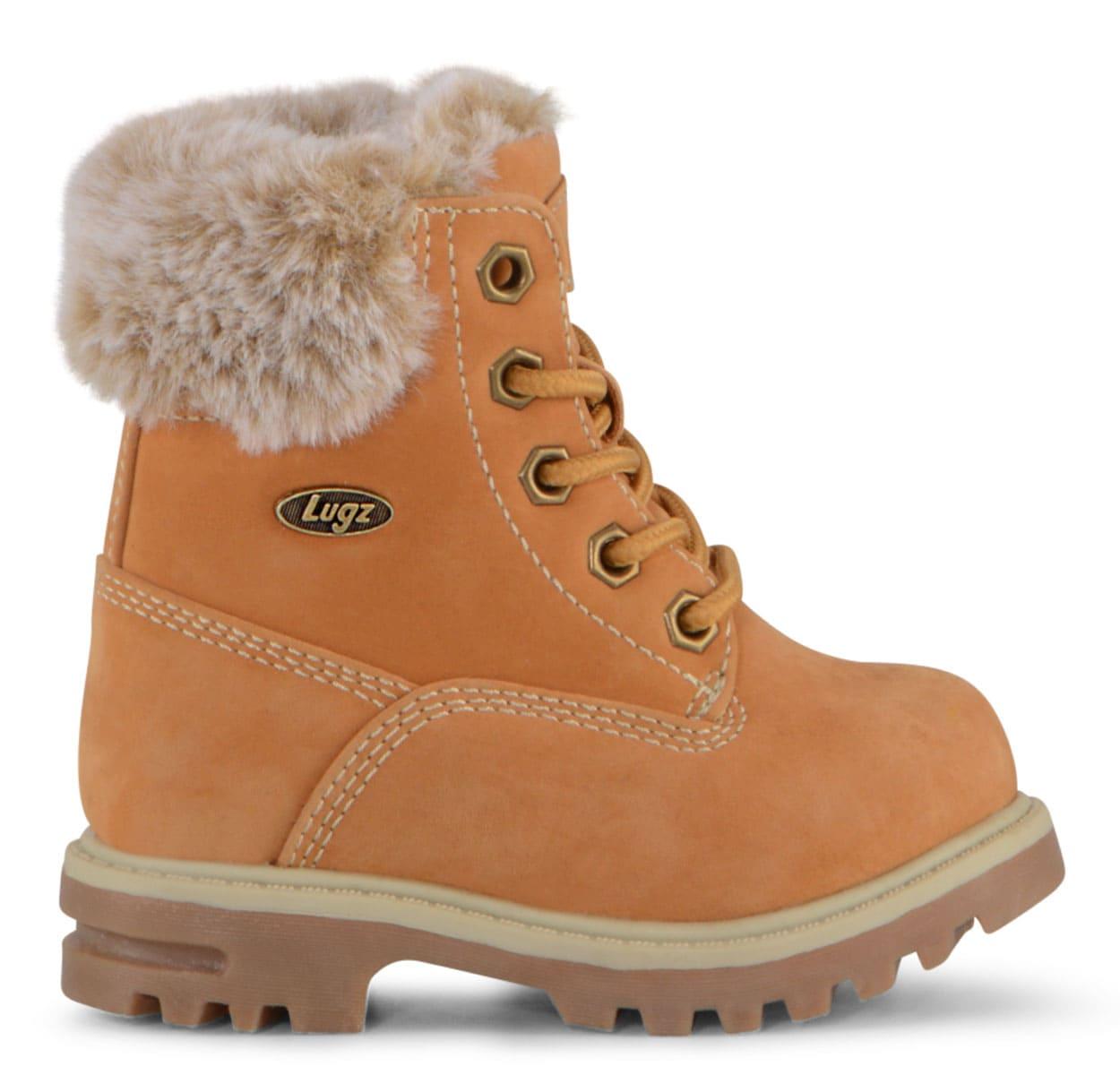 Toddler Empire Hi Fur 6-Inch Boot (Choose Your Color: BLACK, Choose Your Size: 8.0)