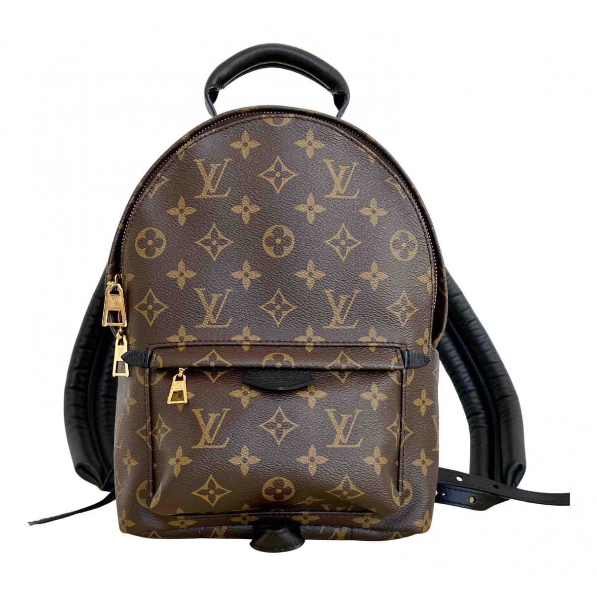 Louis Vuitton - Sac a dos Palm Springs pour femme en toile - marron