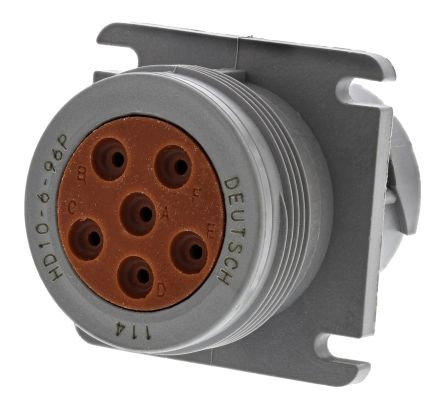 Deutsch Connector, 6 contacts Cable Mount Socket, Crimp IP67