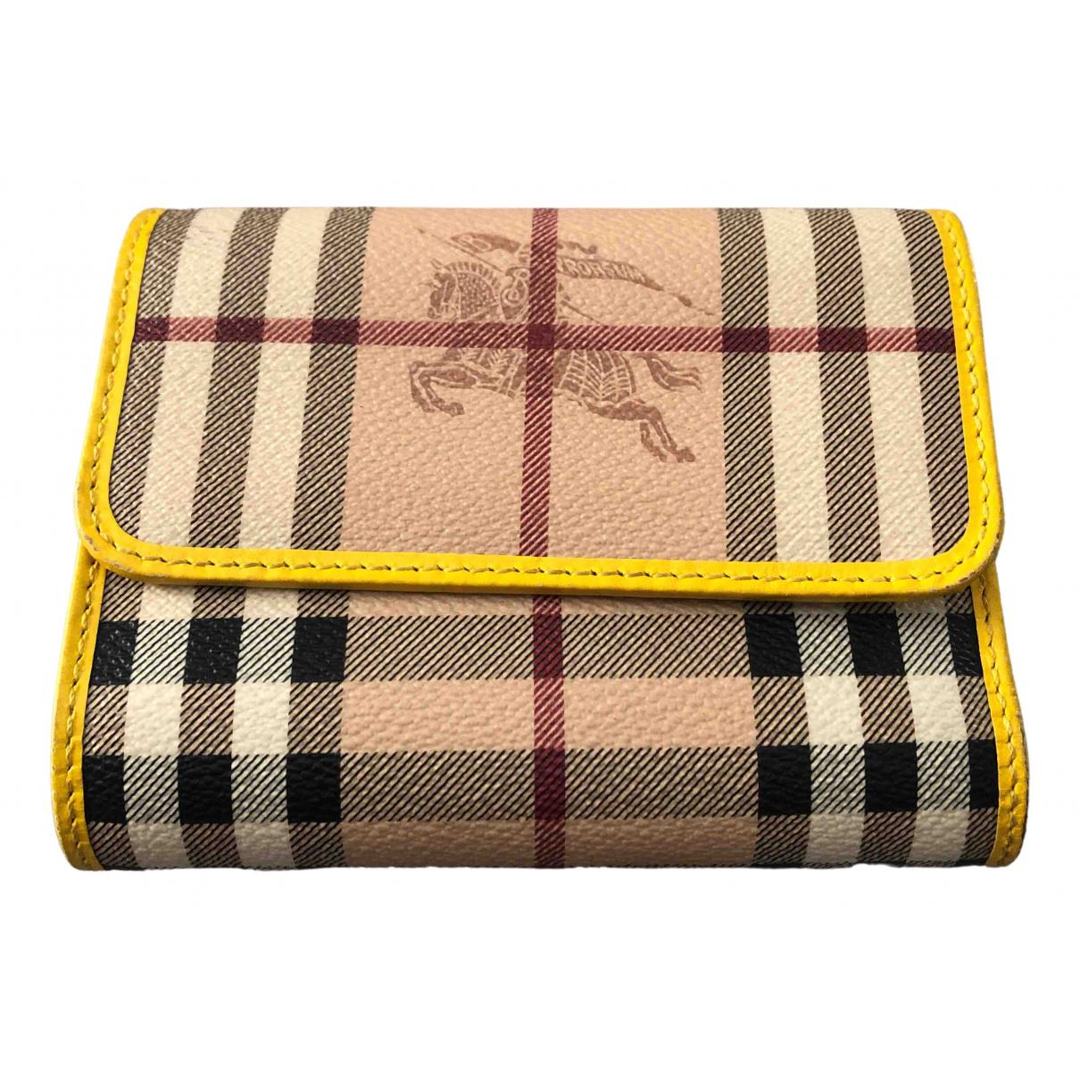 Burberry N Beige Cloth wallet for Women N
