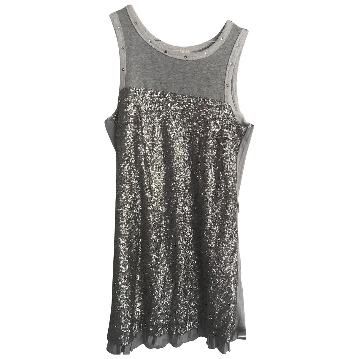 Monnalisa N Grey Glitter dress for Kids 16 years - M FR