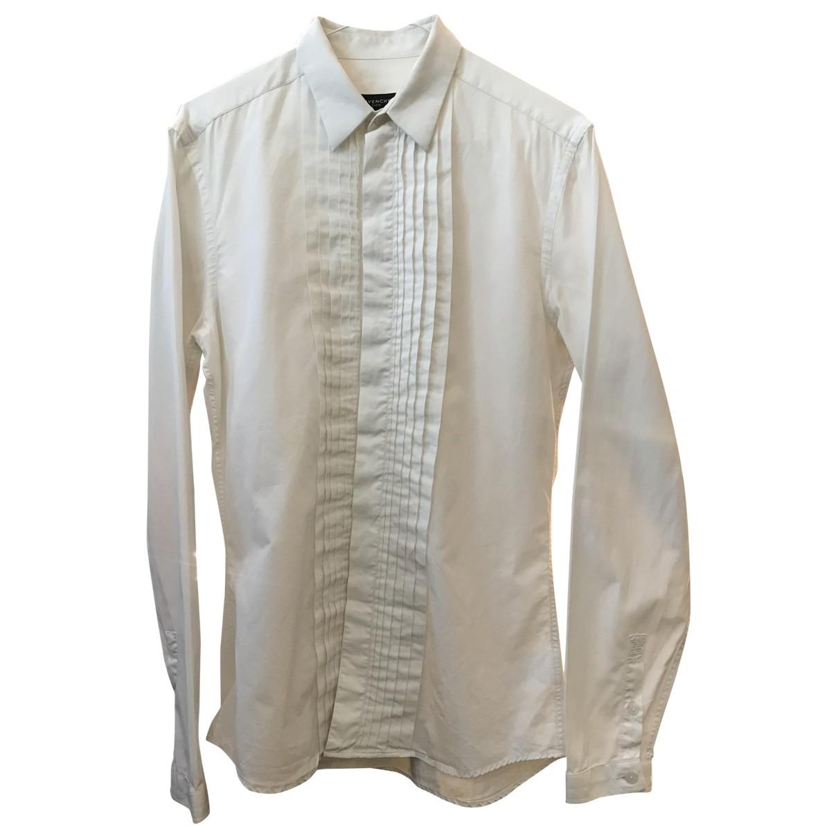 Givenchy \N White Cotton Shirts for Men 38 EU (tour de cou / collar)