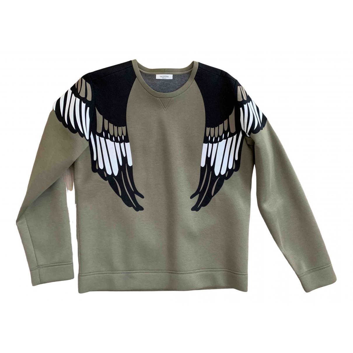 Valentino Garavani \N Pullover.Westen.Sweatshirts  in  Khaki Baumwolle