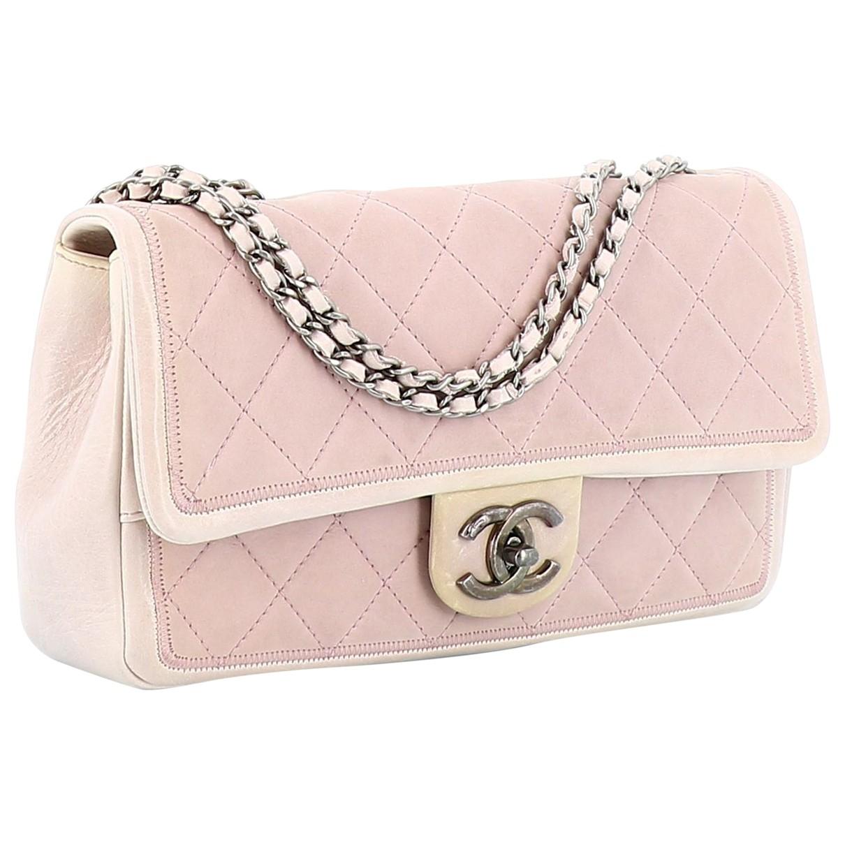 Chanel Timeless/Classique Handtasche in  Rosa Leder