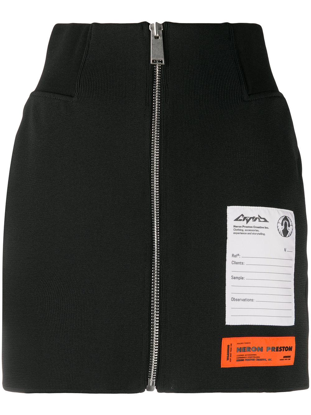 Zipped Rib Skirt