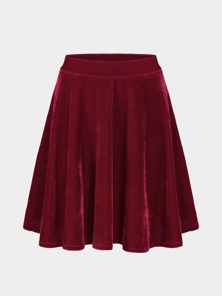 Yoins Red Pleated Skirt