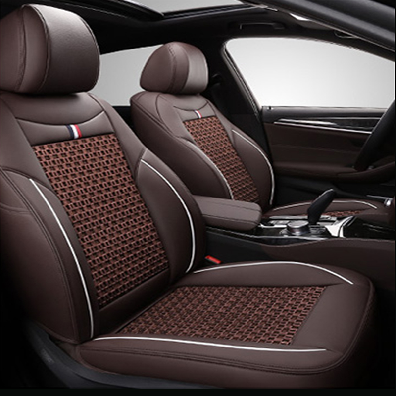 Ice Silk Seat Cover Breathable Wear-resistant Business Style Wear-resisting Scratch No Peculiar Smell Fresh Breathable 5-seater Custom Fit Seat Covers