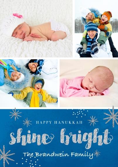 Hanukkah Photo Cards 5x7 Cards, Standard Cardstock 85lb, Card & Stationery -Shine Bright Hanukkah