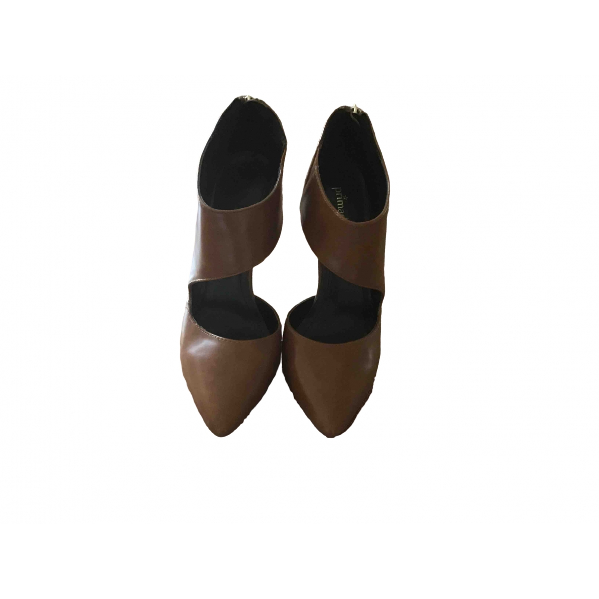Non Signé / Unsigned \N Camel Leather Heels for Women 38 EU