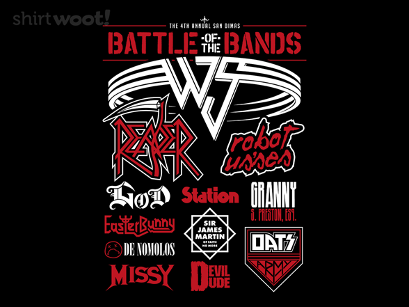 Wyld Stallyns Battle Of The Bands T Shirt
