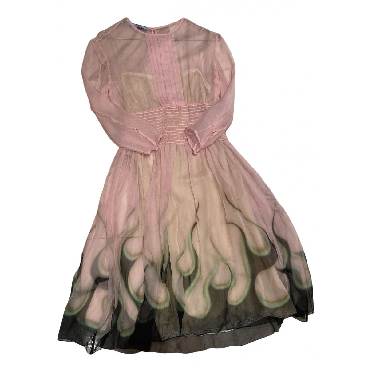 Prada - Robe   pour femme en soie - rose