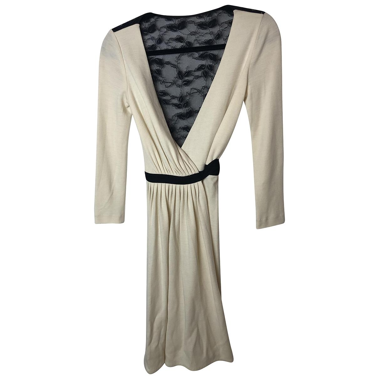 Diane Von Furstenberg - Robe   pour femme en laine - beige